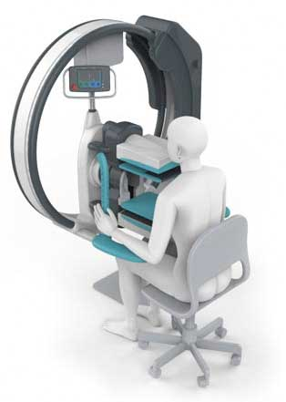 Person Using Breast Imaging Device