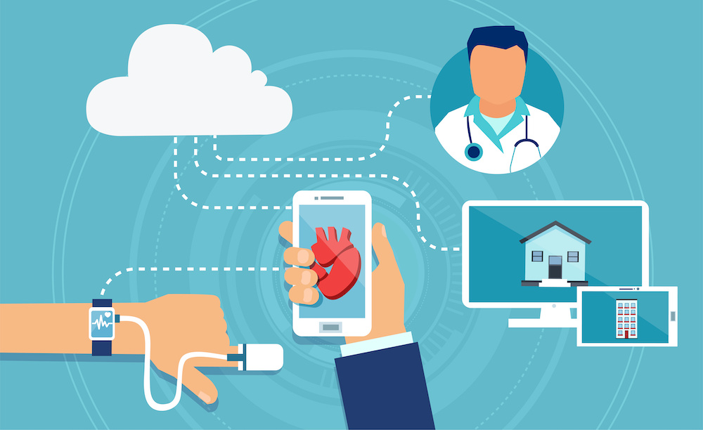 Cardiac Wearable Medical Devices for doctors, patients and family member to see updates from medical device